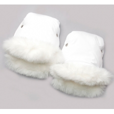 Рукавички для мамы на коляску Модный Карапуз Кролик Белый (03