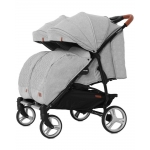 Коляска-трансформер для двойни Baby Tilly Carrello Connect CRL-5502/1 Rock Gray (88853)