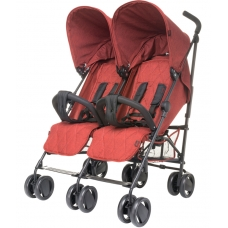 Прогулочная коляска 4Baby Twins Red