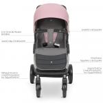 Прогулочная коляска EL Camino Dynamic V.2 ME 1053 Pale Pink