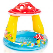 Детский надувной бассейн с навесом Intex Грибочек (57114)