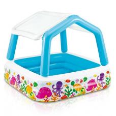 Детский надувной бассейн с крышей Intex (57470)