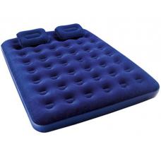 Двухспальный велюровый надувной матрас с 2-мя подушками Bestw