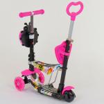 Детский самокат 5 в 1 Best Scooter Абстракция Розовый (74230)