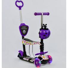 Детский самокат 5 в 1 Best Scooter Абстракция Фиолетовый (972