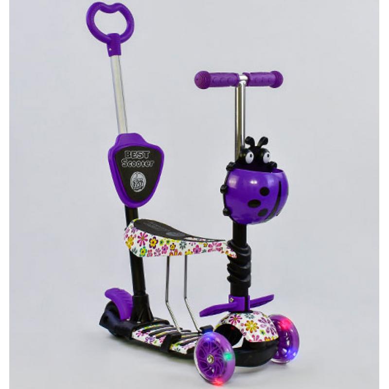 Детский самокат 5 в 1 Best Scooter Абстракция Фиолетовый (97240)