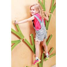 Детский скалодром Невероятные веточки на каркасе