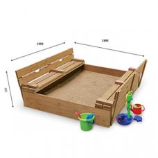 Детская песочница с крышкой Sportbaby-28