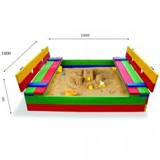 Детская песочница с крышкой Sportbaby-29