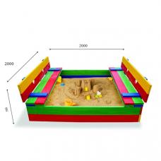 Детская песочница с крышкой Sportbaby-30