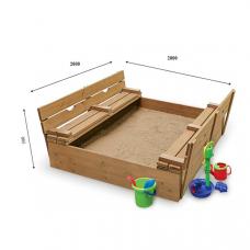 Детская песочница с крышкой Sportbaby-31