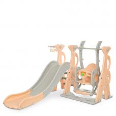 Детский набор Горка+качели+баскетбол Bambi WM19083A-8 Персико