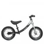 Детский беговел 12 ML-0083-3 Черно-серый