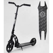 Двухколесный самокат с амортизатором Best Scooter Черный (376