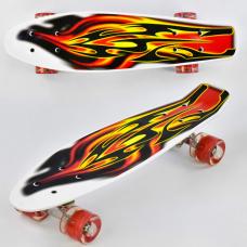 Скейт Best Board F 4380 Белый