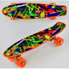 Скейт Best Board Р 12305 Цветной Молния