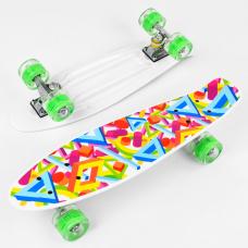 Скейт Best Board Р 10765 Радуга