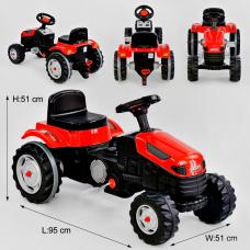 Трактор с педалями Pilsan Красный (07-314)