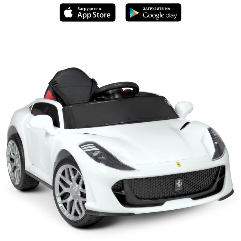 Детский электромобиль с пультом управления Bambi M 4615EBLR-1 Белый