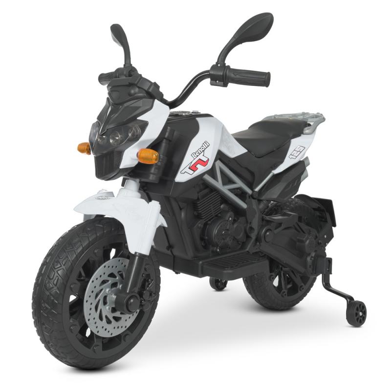 Детский электромотоцикл Bambi M 4621EL-1 Белый