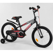 Детский двухколесный велосипед Corso R-18012 Черно-красный
