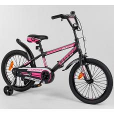 Детский двухколесный велосипед Corso Aerodynamic ST-18088 Роз