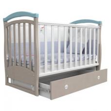 Детская кроватка Верес Соня ЛД-6 с маятником Капучино-Голубой