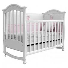 Детская кроватка Верес Соня ЛД-3 с ящиком и резблением Белый