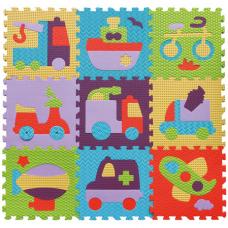 Детский игровой коврик-пазл Baby Great Быстрый транспорт (GB-