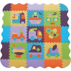 Детский игровой коврик-пазл с бортиком Baby Great Быстрый тра