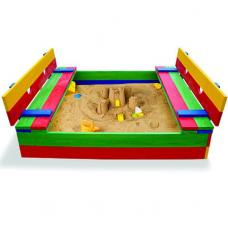 Детская цветная песочница с крышкой Sportbaby-11