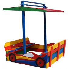 Деревянная песочница с крышкой и крышей Sportbaby Машина