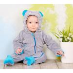 Слингокомбинезон велюровый My baby Модный Карапуз Серый с голубым