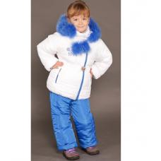 Зимний детский костюм-комбинезон M-Moda Алиса Белый