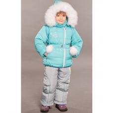 Зимний детский костюм-комбинезон M-Moda Алиса Бирюза