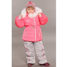 Зимний детский костюм-комбинезон M-Moda Алиса Коралл