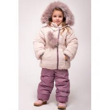 Зимний детский костюм-комбинезон M-Moda Алиса Крем-брюле