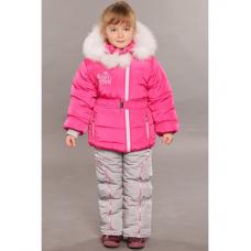 Зимний детский костюм-комбинезон M-Moda Алиса Малина