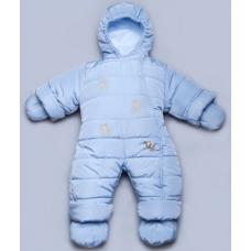 Детский зимний комбинезон Мишки-Топтыжки Модный Карапуз Голуб