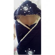 Конверт-одеяло на овчине Greta Умка Синий
