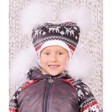 Зимняя шапка Модный карапуз Скандинавия Для девочки (03-00464
