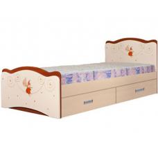 Детская кровать с ящиками Вальтер Феи в облаках (190x120 см)