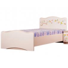 Детская кровать Вальтер Цветы жизни (190x90 см) Ваниль